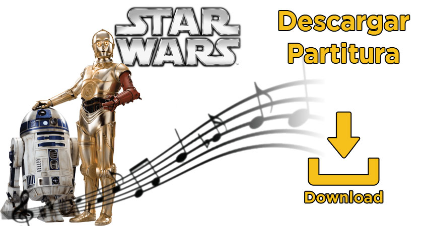 Partitura canción Star Wars