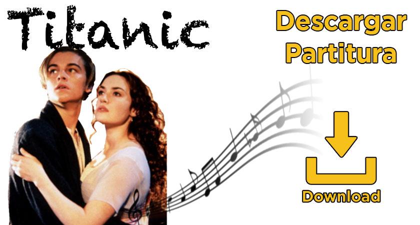 Partitura canción Titanic