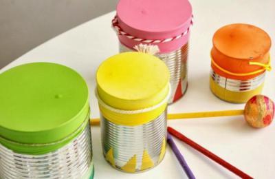 Instrumentos musicales reciclados tambor