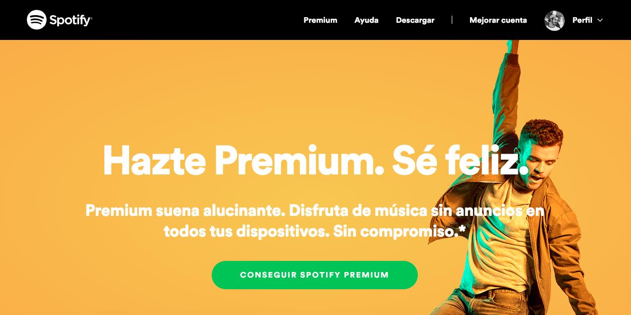 Spotify descargar musica