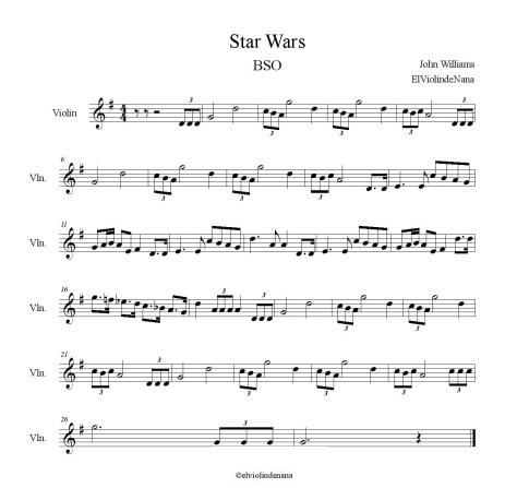 Partitura de Star Wars