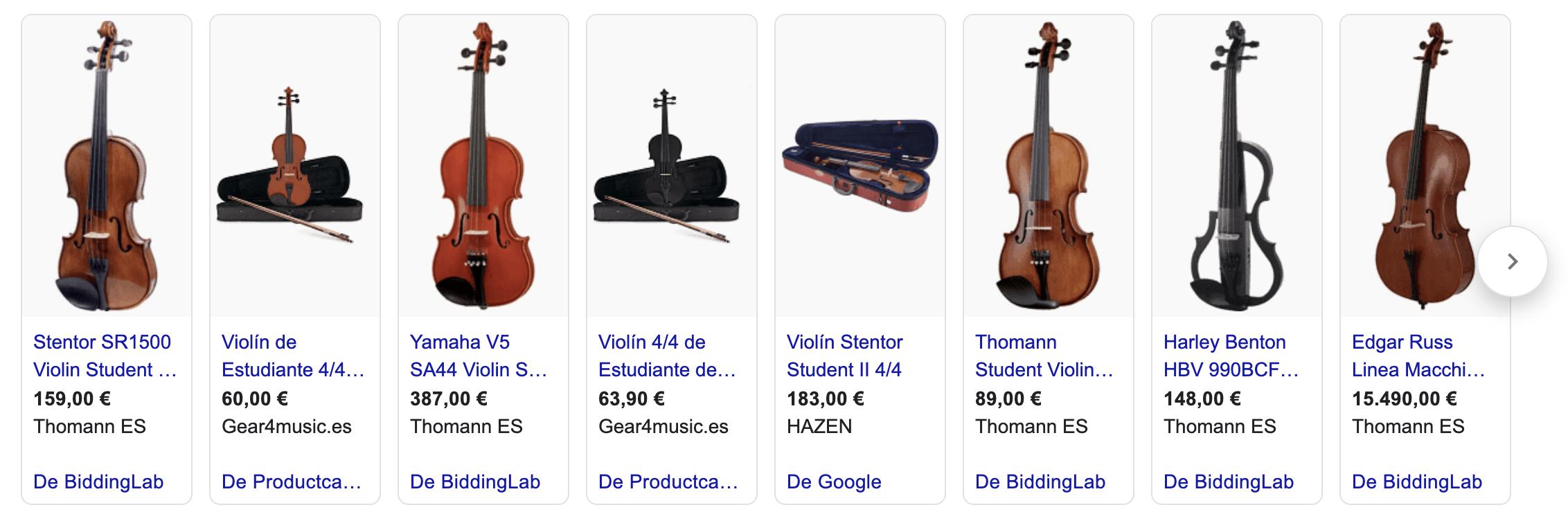 precio violin